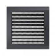 Kamīnu karstā gaisa restīte grafīts (žalūzijas) 22x22