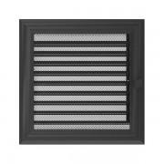 Kamīnu karstā gaisa restīte oskar (grafīta žalūzija) 22x22
