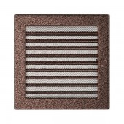 Kamīnu karstā gaisa restīte vara (žalūzijas) 22x22