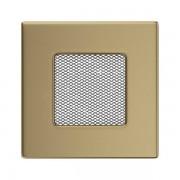 Kamīnu karstā gaisa restīte zelta (galvanizēta) 11x11