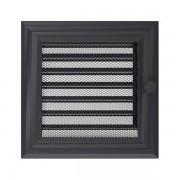 Kamīnu karstā gaisa restīte oskar (grafīta žalūzija) 17x17